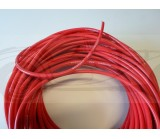Fil haute tension silicone diamètre 8mm haute performance rouge