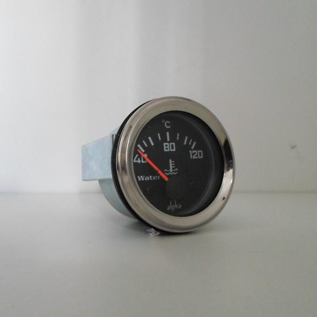 Jauge de température d'eau 12V fond noir