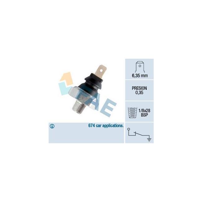 Manocontact de pression d'huile 0,3 bar 1/8x28 BSP