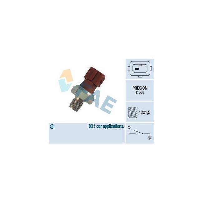 Manocontact de pression d'huile 0,35 bar M12 x 1.5