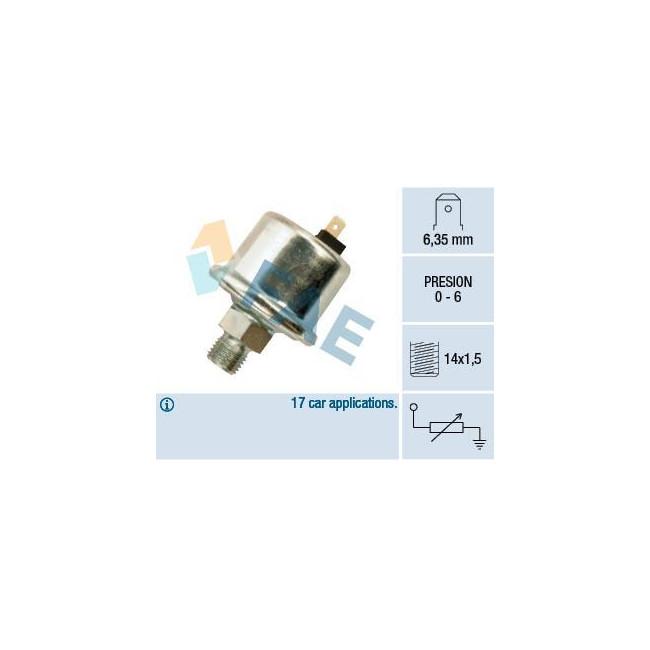 Transmetteur / sonde de pression d'huile M14 x 1.5