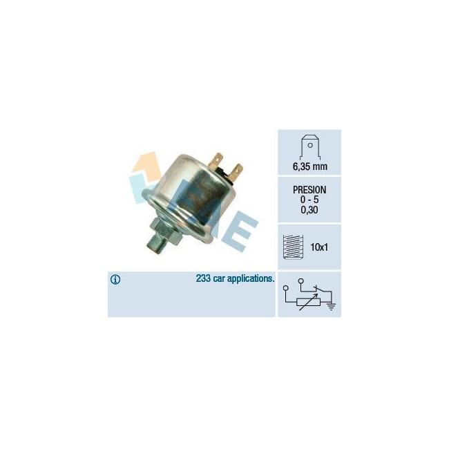 Transmetteur / sonde de pression d'huile M10 x 1