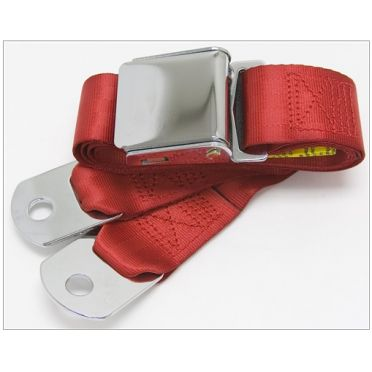 Ceinture ventrale 2 points type aviation longueur 152