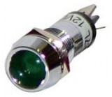 LED indicator chrome 11mm