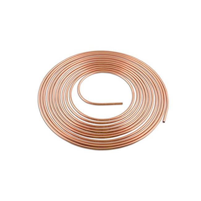 Tuyau rigide de cuivre pour circuit de freinage (4.75mm x 7.60M)