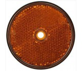 Catadioptre rond orange 60mm