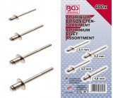Assortiment 400 rivets aluminium
