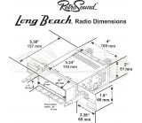 Autoradio Rétrosound Long Beach type ivoire