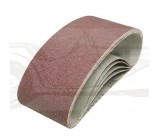 Lot de 5 bandes abrasives 75x457mm