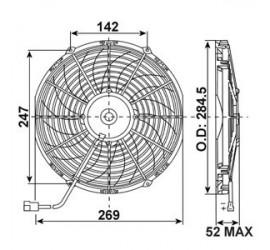 Ventilateur soufflant 255mm 1350m3/H