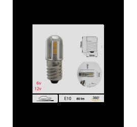 Ampoule LED E10 6V ou 12V