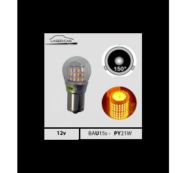 Ampoule LED BAU15S P21W orange 12V