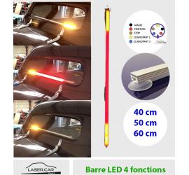 Barre LED multi-fonctions  veilleuse, stop, clignotants pour lunette arrière
