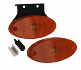 Feu de gabarit 2 LED orange oval