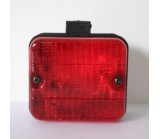 red rear fog lamp with mounting foot 87 x 77 x 52